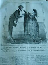 Caricature 1865 - Je suis inventeur d'une nouvelle eau pour pousser les cheveux