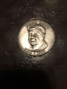 """Vintage Brass Babe Ruth Coin  """"You too Are A true Champion"""" Free Shipping"""