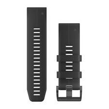 Garmin QuickFit 26 Watch Bands - Black Silicone