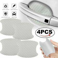 4PCs Set Silver Carbon Fiber Car Door Handle Protector Film Anti Scratch Sticker