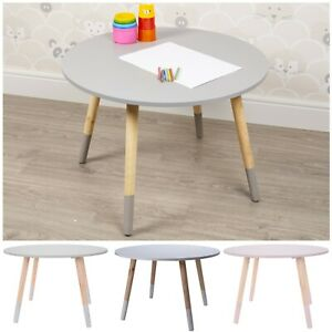 Colourful Kids Table Wooden Children Activity Nursery Playroom Furniture Crafts