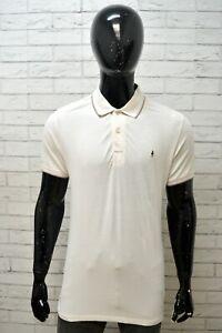 Maglia Uomo Polo MARLBORO CLASSICS L Casual Manica Corta Cotone Bianco Shirt Man