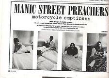 MANIC STREET PREACHERS Motorcycle Emptyness magazine ADVERT/mini Poster 8x6 inch