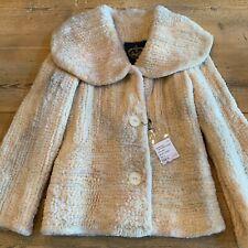 Franco Vello Beaver Fur Knit Coat, Size 8
