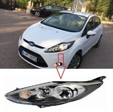 Ford Fiesta 2008-2012  Black Headlight Headlamp  Passenger Side Left Side