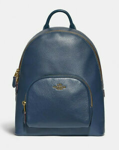 COACH Leather Carrie Backpack ~NWT~ Blue 93836