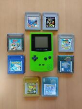 Nintendo Game Boy Color mit 8 Spielen: Pokemon Kristall, Gold, Blau; Zelda, etc.