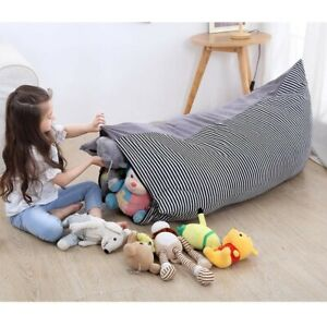 Kids Extra Large Storage Bean Bag Stuffed Animal Plush Toy Soft Pouch Chair 1x