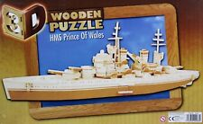 3D Holz Puzzle HMS PRINCE OF WALES Schlachtschiff WOODCRAFT Construction Kit