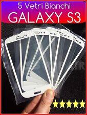 5 PZ Vetro vetrino  FRONT GLASS BIANCO WHITE SAMSUNG GALAXY S3 I9300 I9301I Neo