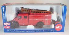 Siku 1/50 Nr. 4115 Magirus Rundhauber Tanklöschfahrzeug Feuerwehr OVP #1443