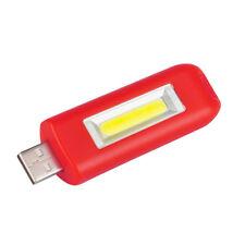 Outdoor Mini USB Rechargeable Key Chain Flashlight Flash COB Pocket Light 3Modes