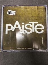 "CYMBAL SET PAISTE 101   14"" HIHAT - 16"" CRASH - 20"" RIDE  - MADE IN GERMANY"