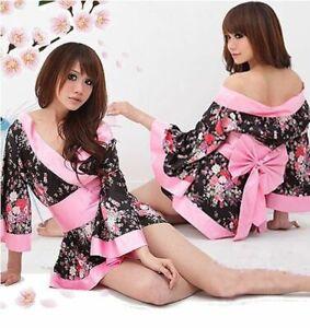 Sexy Japanese Kimono Night Dress- Ladies Nightwear with Lingerie