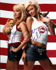 THE SIMPLE LIFE CAST SIGNED 8X10 PHOTO RP PARIS HILTON NICOLE RICHIE