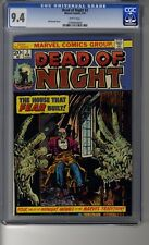 Dead of Night # 2 - CGC 9.4 White Pgs - Reprints Adventures into Weird Worlds 17