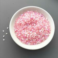 USA BUTTERFLY Glitter Shapes PINK SOLVENT RESISTANT Acrylic Gel Nail Art