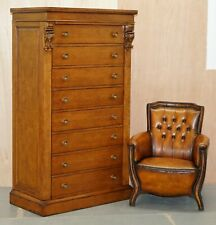 HUGE RRP £9999 RALPH LAUREN POLLARD OAK CHEST OF DRAWERS TALLBOY WITH MIRRORS