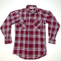 Woolrich Vintage 70s/ 80s Men's Twill Shirt Red/ Multi Plaid Sz S