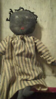 Primitive Handmade Americana Black Folk Art Civil War Doll