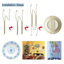 "20 Pcs 9.8""-11"" Plate Hanger Plate Dish Display Plate Hangers For The Wall Decor"