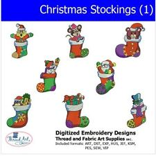 Embroidery Design CD - Christmas Stockings - 8  Designs - 9 Formats - Threadart
