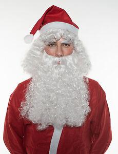 Christmas Holiday Santa Claus Wig & Beard Set St. Nicholas Halloween Cosplay
