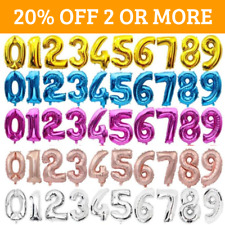 """32"""" 40"""" Giant NUMBERS 0-9 FOIL BALLOONS. Air or Helium inflate. Birthday Party"""