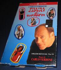 VHS Pillole capsule e supposte Carlo Verdone sketch '78 '99 con opuscolo