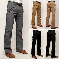 Mens Formal Trousers Casual Office Smart Business Work Dress Pants Waist 29-36