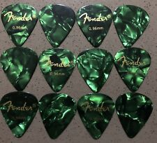 Fender™ Guitar picks Green x 12 - Heavy (0.96mm)