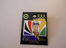Vintage 1996 Atlanta Summer Olympic Games U.S. Cycling Team cut-out style pin