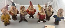 "6"" Antique American Latex 1930's Disney Seiberling 7 Dwarves Dolls! 18161"