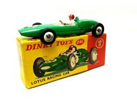 Dinky Toys 241 Lotus Racing Car with original box not repro vintage collectable