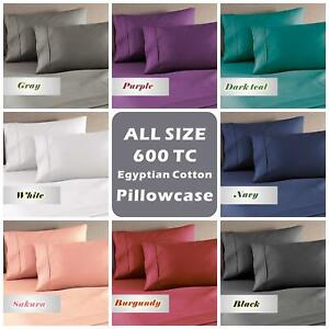 Genuine 600TC Combed Natura Egyptian Cotton Pillow Cases For Bed Sheet (1 Piece)