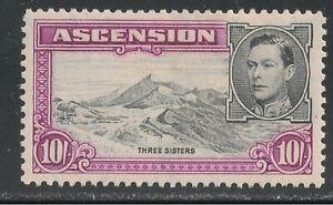 Ascension #49 (SG #47a) - 1944 10sh Three Sisters & King George VI