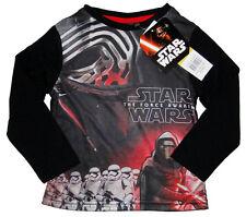 Star Wars Jungen Langarmshirt Kylo Ren Chewbacca Kinder langarm Shirt Disney Neu