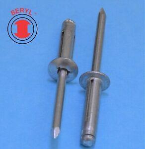 "Tri Grip / Stretch Folding Blind Pop Rivet 5/32""X0.57"" Aluminum (100 Pcs) TS514"