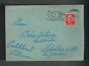 1940 Germany Buchenwald Concentration Camp KZ Cover to Bohemia Franz Ort