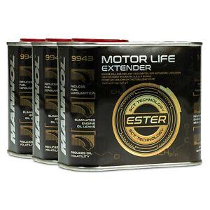 Mannol 9943 Moteur Life Extendeur Motoröl-additiv, 3x500ml