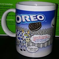 "OREO Cookies White Milk w/ Cow Coffee Collectible Ceramic Mug 4"" NABISCO"