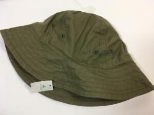 New Baby Gap Boy's Khaki Kale Green Fishing Sun Hat, Sz 6-12 Months