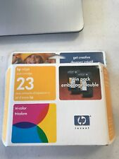 HP Inkjet printer cartridge 23 tricolor ink  Twin Pack  Sealed  May 2005