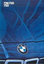 BMW 7-Series 728i 732i 735i 1984 Original UK Foldout Sales Brochure No 411070421