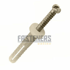 100pcs - 5mm x 40mm Round Head Nylon Knock-in, Nail in Plug / Anchor