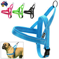 Dog Harness Strong Adjustable No Pull Nylon Quick Fit Reflective Stitching Pet