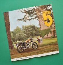Original 1965 Triumph Motorcycle Brochure T100 Tiger T120 Bonneville TR6 Trophy