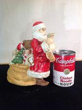 Vintage Santa Claus Checking His List Music Box Porcelain