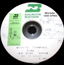 Burlington Northern 1980 Wichita SPINS Track Charts PDF Pages on DVD