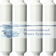 "4 Reverse Osmosis Refridgerator Water Cooler Inline Carbon Filters 2X10"""